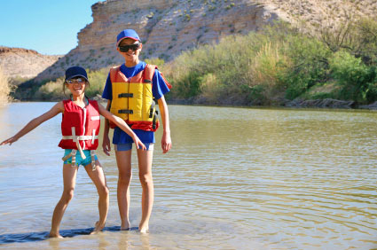 Kids love our raft trips